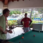 pool tournament with staff
