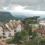 Vista do mirante do hotel