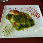 Escargot with garlic butter and puff pastry