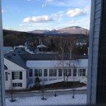 View from hallway window near room