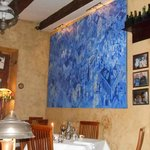 Interior of the restaurant, great paintings