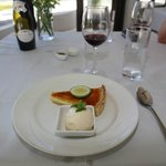 The lemon tart was a nice way to finish the meal