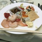 My First Course, Langham Hotel Brunch, delicious and fresh sushi, sashimi, nova scotia and more!