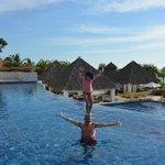 Circus tricks at Marietas pool
