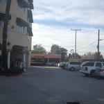 Hotel rear parking