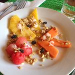 Fruit Salad with Granola