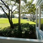View from patio to golf course