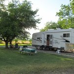 A campsite at Parkway RV