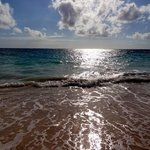 Crystal clear blue water and super soft sandy beach
