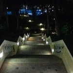 stairs to main pool