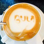 Bula! Even the coffee is friendly.