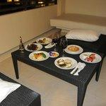 Dinner on the balcony - room service