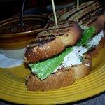 Chili & Chicken Salad Sandwich