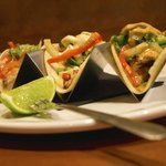 Our Oaxacan Tacos are a special treat. Served a la carte with either Duck, Carnitas or Lobster.