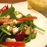 Our Spinach Fruit Salad is a hit. We have many variety of salads that make for a light lunch.
