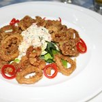 Calamari at the Italian  a la carte