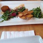Crab cake et tartare de saumon:-)