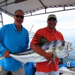45 lb Roosterfish caught with the GoPrimal Fishing team in Mal Pais Costa Rica