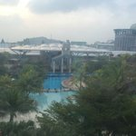 View from room overlooking Pools