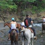 Beginning of horseback ride