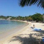 Beach behind our favorite ice cream shop Deliciosa : )