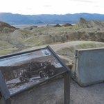 Zabriskie Point, the view toward the valley