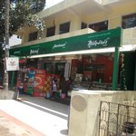 Nilgiris shop on main Ulsoor Road, adjacent to JUSTA