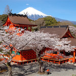 富士山本宮浅間大社、宿から徒歩10分