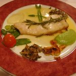 Cod fish with rosemary..