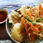 野菜天丼 vegetable rice bowl