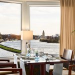 Restaurant with a view over the Rhine River