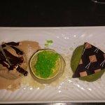Green tea, Yuzu and peanut ice cream
