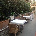 Giardino per colazione all'aperto