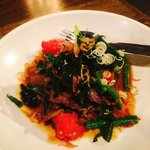 Stir Fried Beef with heirloom tomatoes