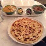 Last dinner at Petitie India - Curries, salsa, condiment & roti