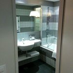 small bathroom, but well made and full of light