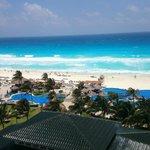 Vista del Caribe desde la habitación.