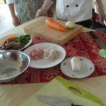 Preparing food - cooking class