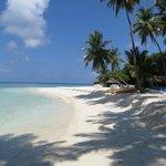 White sands, azure blue sky