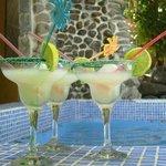 Margaritas by the pool.