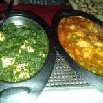 Saag Paneer & Vegetable Curry