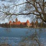 Тракайский замок, неподалеку от Slenis