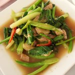 Fried Morning Glory with Salted Fish