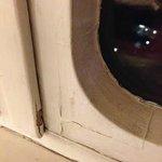 Cracked window frames