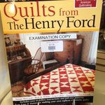 A book showing quilts from the Ford Estate