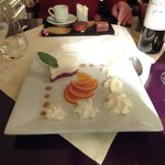 Cointreau pannacotta + caramel orange slices