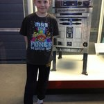 My son may have been more excited about this Star Wars R2D2 mailbox than the Space Shuttle!
