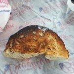 Burnt rye bagel