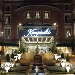 Entrance to the Kempinski at night