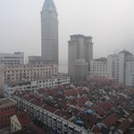 上海空氣正受霧霾影響